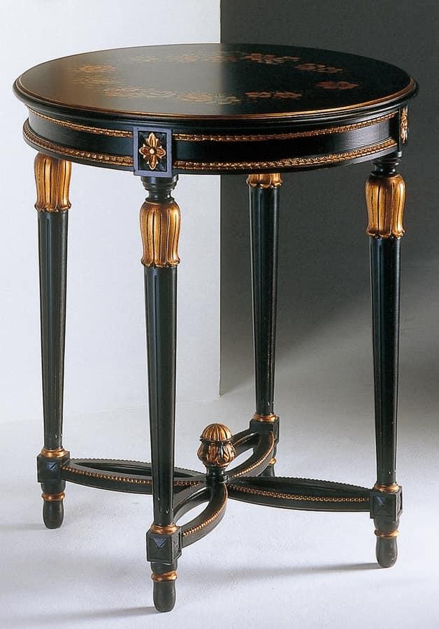 Art. 535/AN Anastasya, Geschnitzt Kaffeetisch, im Stil Louis XVI, für Wohnzimmer