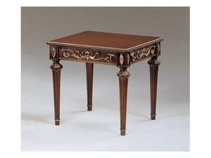 Art. 911 Decò, Klassische kleine Tische in Holz geschnitzt, für Luxuxhalle