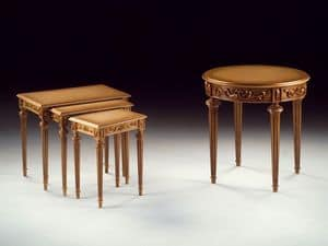 Art. 912 Decò, Geschnitzt Couchtisch aus Holz, für klassische Wohnzimmer