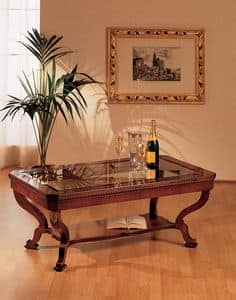 Art. 962/R, Klassischen Stil kleinen Tisch, Luxus, in der Hand geschnitzten Holz