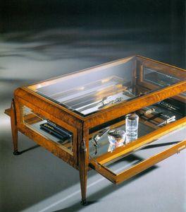 Art Déco Art.527 kleiner Tisch, Couchtisch mit Vitrine
