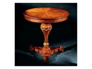 Elena side table 750, Beistelltisch mit runden inlayed oben