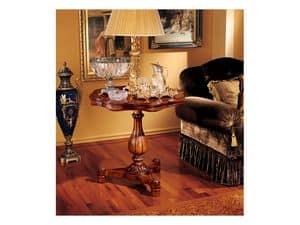 Elena side table 752, Kleiner Tisch mit geschnitzten Holzstruktur