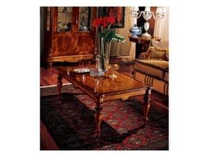 Marcus coffee table 771, Couchtisch aus Holz geschnitzt