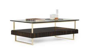 New York Tabelle, Moderner Couchtisch mit Glasplatte