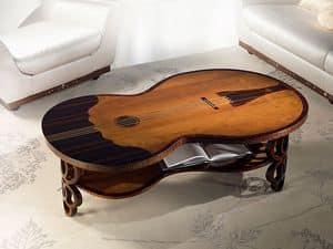 TL36 Pois kleiner Tisch, Klassischer Couchtisch, Bassgeige förmig, für Wohnzimmer