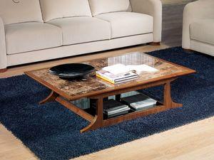 TL52 Desyo kleiner Tisch, Rechteckige Tische für Klassiker Wohnzimmer geeignet