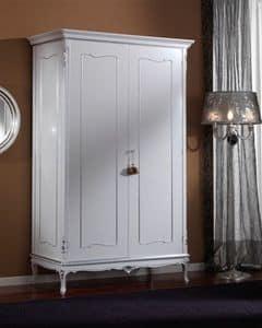 3615 WARDROBE, Kleiderschrank mit 2 Türen für klassische Schlafzimmer geeignet