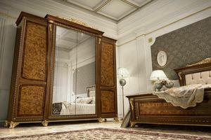 Aida Kleiderschrank, Klassische Garderobe mit wertvoller Verarbeitung