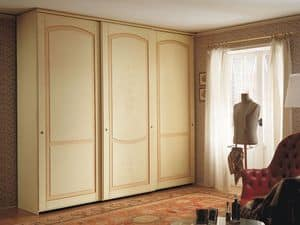 Appunti di Viaggio 5, Kleiderschrank mit Schiebetüren, klassisches Design, Veredelung Tempera decapé