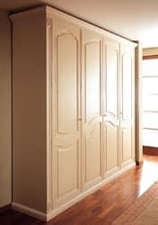 Art. 1100 Norma, Kleiderschrank aus Holz, handgefertigt, für Luxus-Villen