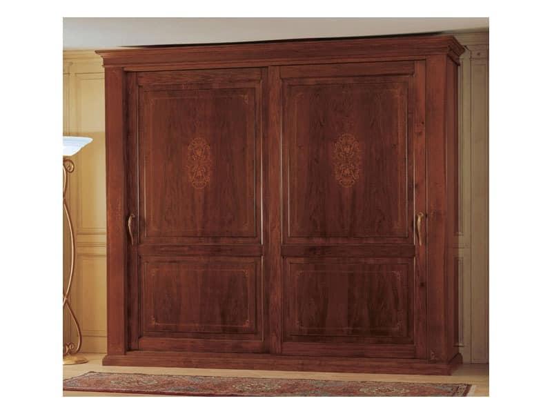Art. 2004/279 '800 Francese Luigi Filippo, Kleiderschrank aus Holz, ein klassisches Möbelstück für das Schlafzimmer