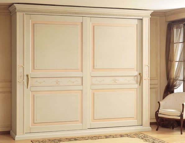 Art. 2004 Canova, Luxus-Schrank, mit Schiebetüren, für classica Stil Schlafzimmer