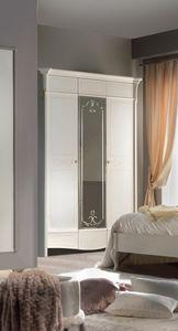Diamante Art. 2120, Klassischer Kleiderschrank mit Spiegeltür