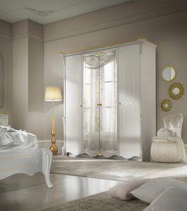 Giulietta Art. 3315 - 3415, Eleganter weiß lackierter Kleiderschrank