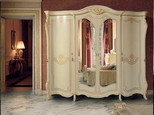 Opera Kleiderschrank, Kleiderschrank im klassischen Stil mit Spiegel