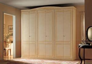 Primavera, Schrank mit 6 Türen, klassischen Stil und handgefertigte Dekorationen