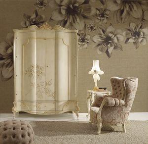 Signoria Kleiderschrank, Kleiderschrank im klassischen Stil mit Blumendekor