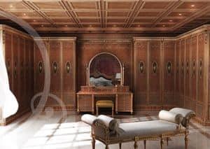 W100, Geschnitzten klassischen Kleiderschrank, für Schlafzimmer