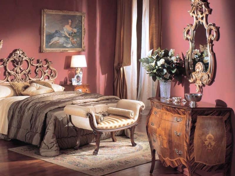 3245 CHEST OF DRAWERS, Luxus klassischen Kommode mit 3 Schubladen, in Einlegearbeiten aus Holz