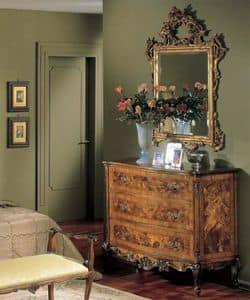 3265 CHEST OF DRAWERS, Holzkisten mit 3 Schubladen, Luxus klassischen Stil