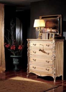 3370 KOMMODE, Kommode von 5 Schubladen, '800-Stil, für klassische Zimmer