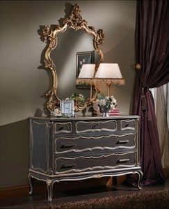 3465 KOMMODE, Brust von 5 Schubladen, im Stil Louis XV, für Schlafzimmer