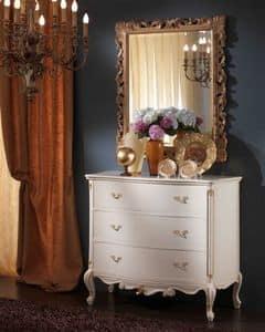 3515 COMO', Weiß Kommode für Klassiker Schlafzimmer geeignet