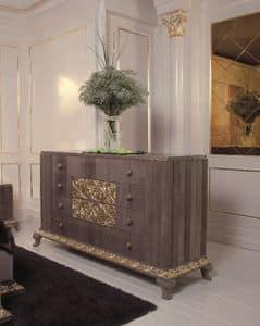 Art. 114, Kommode mit 4 Schubladen mit Gold Veredelungen, Luxus classic