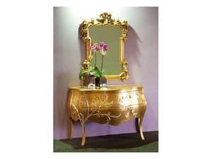 Art. 1603 Jasmine, Klassische Kommode, Finishing Blattgold, für Hotelsuiten