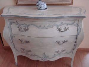 Art. 2107/Z, Dresser in klassischen Luxus-Stil, mit Dekorationen lackiert