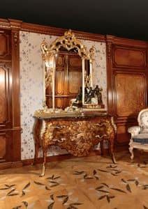 Art. 399, Intarsien Kommode für luxuriöse Zimmer, mit goldenen Spiegel