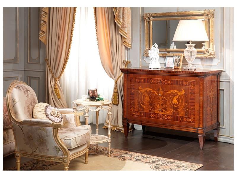 Art. 791 chest of drawers, Handmade Kommode, Maggiolini Einlage, für Luxus-Zimmer