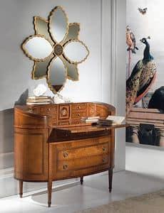 C129 Ellittico Kommode, Klassischer Luxus Dresser, elliptisch, mit Schreibtisch