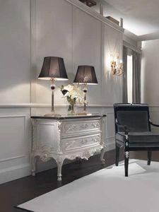 Opale Nachtstuhl, Klassische Kommode mit Marmorplatte