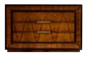 D'Orsay CH.0551, Kommode, aus Nussbaumholz, 3 Schubladen