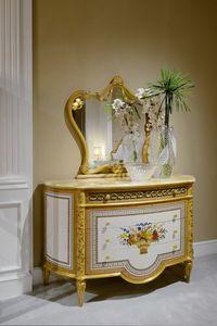 Kommode 3702 Louis XVI-Stil, Kommode mit geschnitzten Details