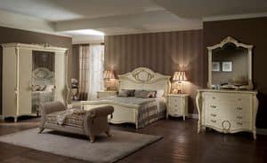 Tiziano Kommode, Klassische Kommode, vier Schubladen, für Zimmer und Luxus-Hotels