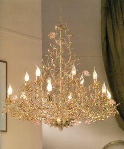 912112/gold, Blattgold Kronleuchter