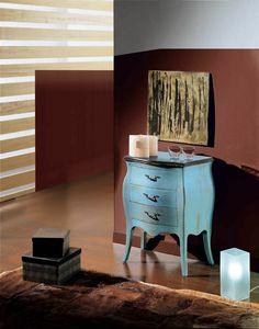 Arcobaleno Nachttisch, Nachttisch aus lackiertem Holz