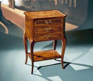 Art. 108/N Greca, Klassischer Nachttisch mit 3 Schubladen