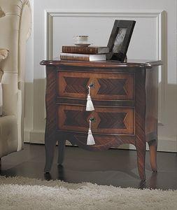 ART. 2709, Klassischer Nachttisch mit 2 Schubladen