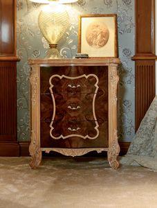 Art. 462, Klassischer Nachttisch mit geschnitzten Beinen