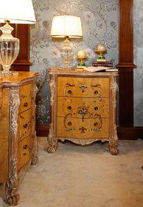 Art. 472, Luxuriöser eingelegter und geschnitzter Nachttisch