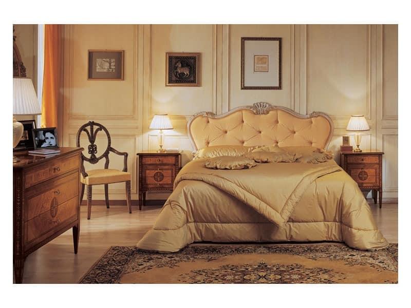 Art. 910 bedside table '700 Italiano Maggiolini, Epochenstil Nachttische, mit Intarsien, für Hotels