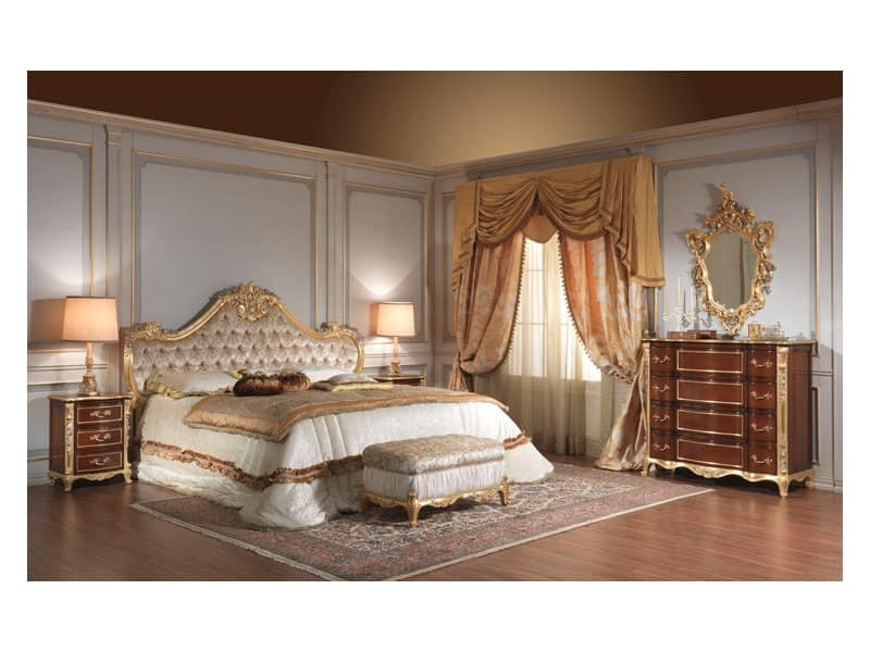 Art. 951 Nachttisch, Nachttische in Kirsche, Blattsilber Informationen für Hotelzimmer