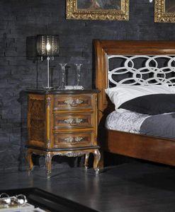 Barocco Nachttisch, Klassischer Nachttisch aus Dornbusch