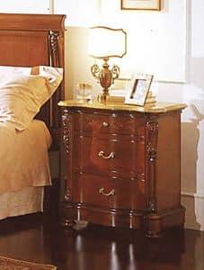 Canova Nachttisch, Nachttisch mit Echt Gelb platte, für luxuriöse Hotels