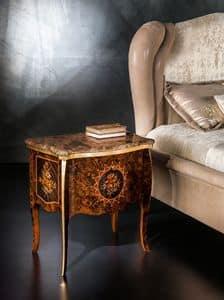CD27 Metamorfosi Nachttisch, Nachttisch mit Marmorplatte ideal für Schlafzimmer