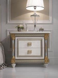 Liberty Nachttisch, Luxus- Nachttisch aus Holz mit einem klassischen Stil, für Hotels und repräsentativen Räumen